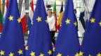Bundeskanzlerin Angela Merkel trifft am 20. Juni 2019 in Brüssel, Belgien, zum EU-Gipfel ein.