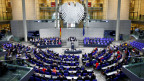 Sicht auf den Deutschen Bundestag in Berlin.