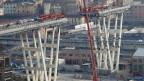 Die eingestürzte Morandi-Brücke in Genua, Italien.