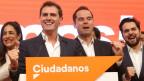 Albert Rivera, Präsident der spanischen Partei Ciudadanos (zweiter von links).