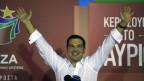 Alexis Tsipras, der Führer der linken Syriza-Partei, jubelte in Athen am 20. September 2015.