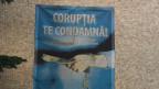 Korruption korrumpiert dich. Plakat an einem Amtsgebäude in Alexandria.