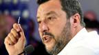 Der stellvertretende italienische Premierminister und Vorsitzende der Matteo Salvini.