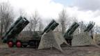 Das russische Waffensystem S-400 in einer Stellung bei Kaliningrad