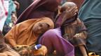 Somalische Familie, die vor der Hungersnot in Somalia geflohen ist.