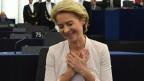 Ursula von der Leyen nach ihrer Wahl am 16. Juli 2019.