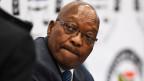 Der ehemalige südafrikanische Präsident Jacob Zuma tritt am 16. Juli 2019 in Johannesburg, Südafrika, vor die Untersuchungskommission.