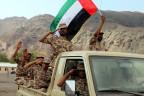 Soldaten unter emiratischer Flagge im Jemen