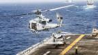 US-Marineeinheiten in der Strasse von Hormus am Persischen Golf.