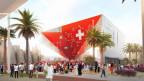 Umstrittene Partnerschaft: Philip Morris unterstützt den Schweizer Pavillon an der Expo 2020 in Dubai als Hauptsponsor. (Visualisierung: EDA/Präsenz Schweiz)