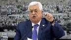 Der palästinensische Präsident Mahmoud Abbas spricht am 25. Juli 2019 in Ramallah im Westjordanland.