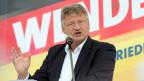 Jörg Meuthen, beim Wahlkampfauftakt der AfD.