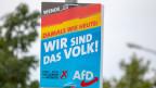 Das Plakat der AfD.