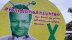 Wahlplakat in Cottbus.