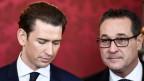 Österreich: Ex-Kanzler Kurz und sein ehemaliger Koalitionspartner Strache.