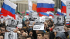 Demonstration der Opposition in Russland.