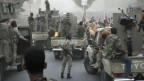 Separatistische Kämpfer des Southern Transitional Council machen sich auf, den Präsidentenpalast in der südlichen Hafenstadt Aden im Jemen zu stürmen.