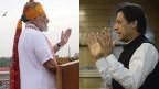 Der indische Premierminister Narendra Modi (li.) und der pakistanische Premierminister Imran Khan.