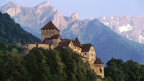 Das Schloss in Vaduz, Fürstentum Liechtenstein.
