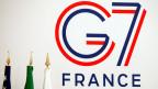 Logo des G7-Gipfels in Biarritz, Frenkreich.