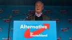 Alexander Gauland, Vorsitzender der AfD-Bundestagsfraktion, während einer Wahlkampfkundgebung zur Landtagswahl 2019 der AfD.