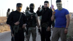 Islamistische Rebellen der Rebellengruppen Hayat Tahrir as-Scham.