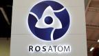 Das Logo des russischen staatlichen Nuklearmonopols Rosatom.