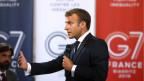 Frankreichs Präsident Emmanuel Macron am G7-Gipfel in Biarritz.