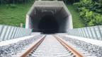 Blick in den neuen Ceneri-Basistunnel, am 29. August 2019 bei Camorino.