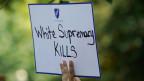 Protest gegen Waffen und die weisse Vorherrschaft nach den Massakern in Dayton und El Paso vor dem Weissen Haus in Washington.