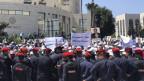 Blick auf die Demonstration.