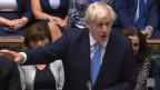 Das Bild zeigt den britischen Premierminister Boris Johnson im Parlament.