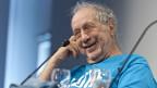 ) Der Schweizer Fotograf Robert Frank, aufgenommen am 28. April 2012 im Kornhausforum in Bern.