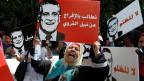 Wahlkampf in Tunis, Tunesien.