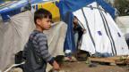 UNO-Flüchtlingszentrum in Moira auf der griechischen Insel Lesbos.