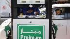 Tankstelle in Jiddah, Saudi-Arabien. Die Energiepreise stiegen nach dem Angriff auf Ölanlagen in Saudi-Arabien.