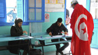 Ein Wahllokal in Tunesien.