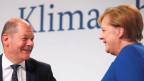 Bundeskanzlerin Angela Merkel und Finanzminister Olaf Scholz am 20. September 2019 im Futurium in Berlin.