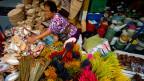 Auf dem Chatuchak-Markt in Bangkok, Thailand.