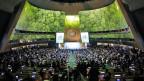 Videoscreening während der Eröffnungsfeier des Klimagipfels der Vereinten Nationen 2019 am 23. September 2019 am Hauptsitz der Vereinigten Staaten in New York City.