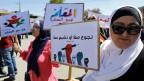 Streikende Lehrerinnen der jordanischen Regierungsschulen.