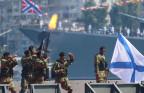 Russische Marinesoldaten auf der Krim.