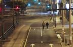 Leere Strassen in Quito.
