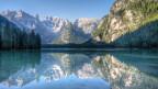 Symbolbild: Der Lago di Landro, See in den Dolomiten, in Trentino, Südtirol (I).