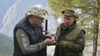 Russlands Präsident Wladimir Putin (rechts) und Verteidigungsminister Sergei Schoigu.