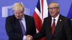 Grossbritanniens Premier Boris Johnson (links) und EU-Kommissionspräsident Jean-Claude Juncker am 17.10.2019 in Brüssel.