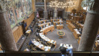 Blick in den Ständeratssaal im Bundeshaus in Bern.