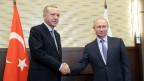 Der türkische Präsident Recep Tayyip Erdogan (links) und der russische Präsident Wladimir Putin.