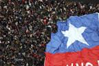 Demonstration in Santiago de Chile.