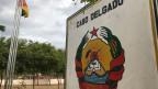 Ortsschild von Cabo Delgado in Mosambik.